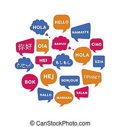 international, sprache, kommunikation, begriff
