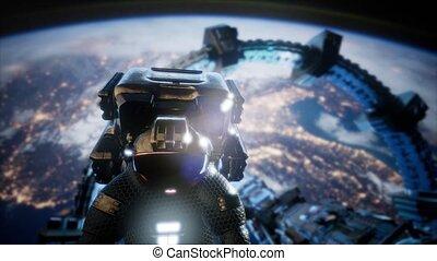 international, station, astronaute, espace