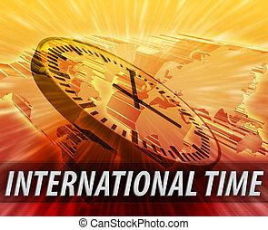 International time management background