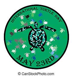 International turtle day vector illustration - International...