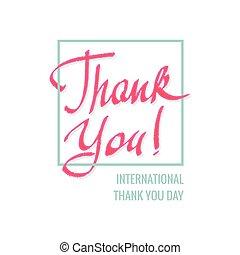 international, vous, remercier, jour