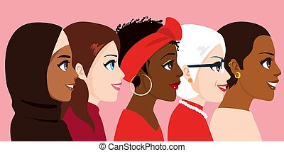 International Women Day Diverse Group