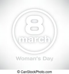 International Women's Day 8 march greeting card for your design