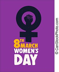 International Womens Day 8th march feminist poster