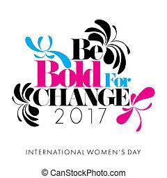International Womens Day - Abstract Cyan Magenta Black...