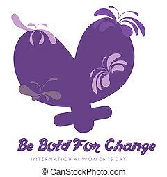 International Womens Day - Abstract violet mnemonic design...