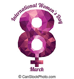 International Womens Day - An abstract illustration on ...