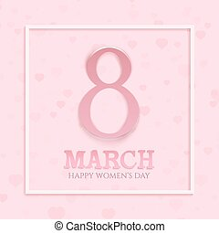International womens day background.