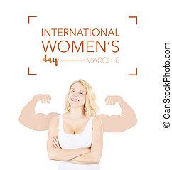 International Women's day banner, march 8