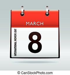 International womens day on 8th march 2011 calendar icon