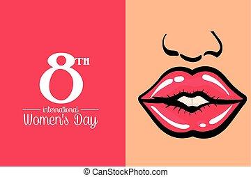 international, womens, jour, affiche