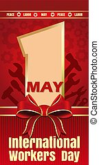 International Workers Day card