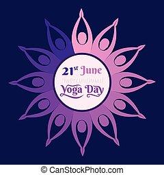 International yoga day poster design