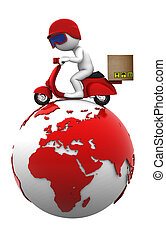 internationale, freight., isoleret
