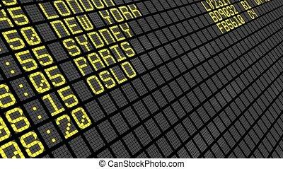 internationale luchthaven, -, 4k, plank