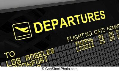 internationale luchthaven, vertrek, plank