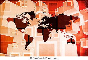 internationell, kris