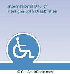 internationell, personerna, dag, disabilities.