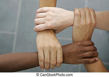 internationell, teamwork