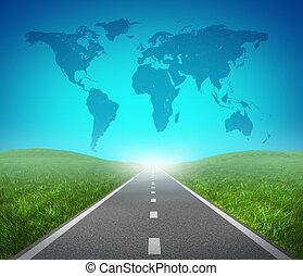 internationell, väg