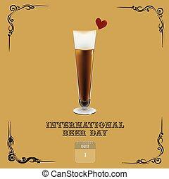 internazionale, birra, bandiera, giorno