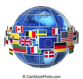 internazionale, comunicazione, concetto