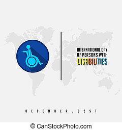 internazionale, gli utenti disabili, giorno, persona