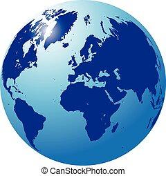 internazionale, globo blu