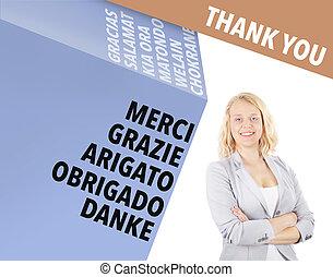 internazionale, lei, -, ringraziare, affari