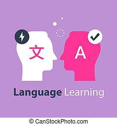 internazionale, lingua, tradurre, brutale, comunicazione, linguistics, cultura, concetto