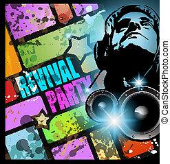 internazionale, musica, evento, fondo, discoteca