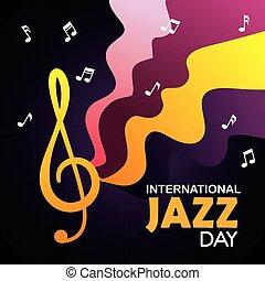 internazionale, note, musica jazz, giorno