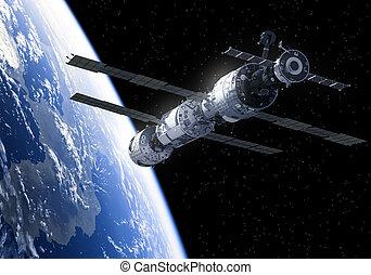 internazionale, stazione, spazio