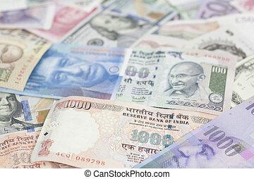 internazionale, valute, fondo, soldi