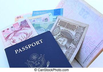 internazionale, valute, stati uniti, passaporto