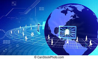 internet , γενική ιδέα , επιχείρηση