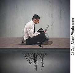 Internet addiction concept - Concept of internet addiction...
