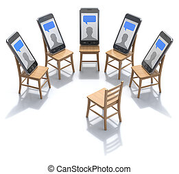 Internet addiction treatment concept - 3D illustration