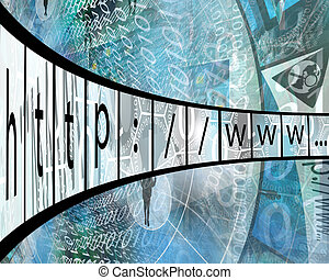 internet adress - Many abstract images on the theme of...