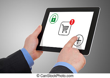 Internet and shopping, on your tablet pc