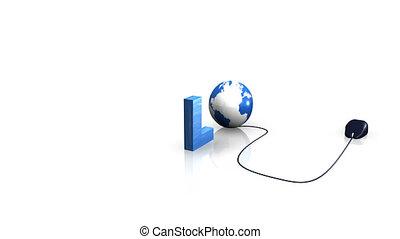 internet, animatie, spelling, downloaden
