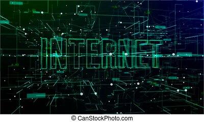 'internet', animatie, tekst, digitale , ruimte
