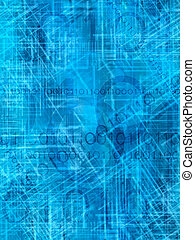 internet background - blue abstract background with binary...