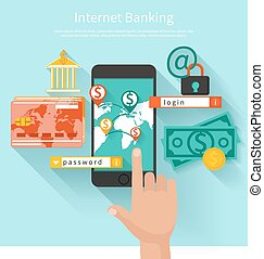 Internet banking and security deposit concept - Business...