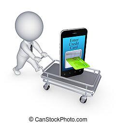 Internet banking concept.