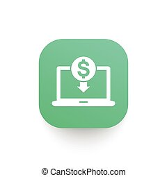 internet banking icon, online payment sign