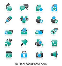 Internet blogging icons