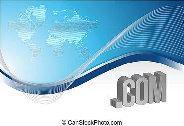 internet blue background illustration design