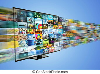 Internet broadband and streaming multimedia entertainment