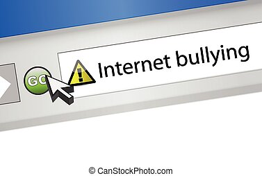 internet bullying concept. browser illustration